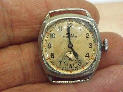 Good Vintage Gents Rone Sportsmans Wristwatch  Working