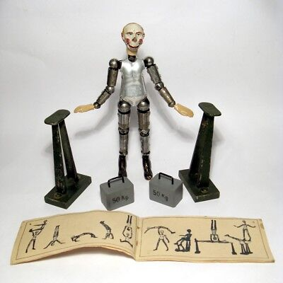"1921 Bucherer/SABA""JAMES"" Circus Acrobat Clown Set Swiss Metal Joint Doll/Figure"