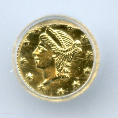 ND(1853) RD Liberty G25C California Fractional Gold / BG-223 ICG MS60 Det