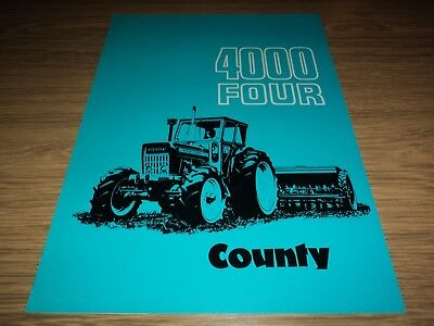 County Tractor 4000 Four Brochure *vgc* (Ford Massey Ferguson)