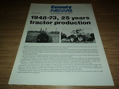 County Tractor News Special Issue 1948-73 25 Years *vgc* (Ford Ferguson)