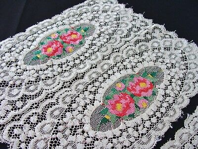 Antique Vintage Embroidered Lace Doilies