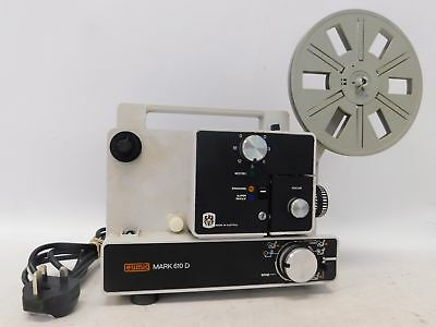 Vintage EUMIG Mark 610D Dual 8mm Cine Film Projector With Reel  - H56