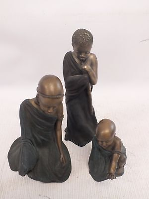 Set of 3 Soul Journey African Figures Resin Ornaments 2000 - H41