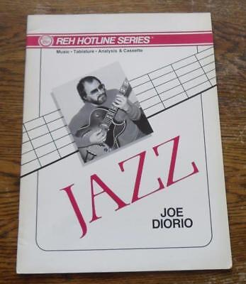 Vintage music book JAZZ by Joe Diorio - music tablature analysis - book only REH