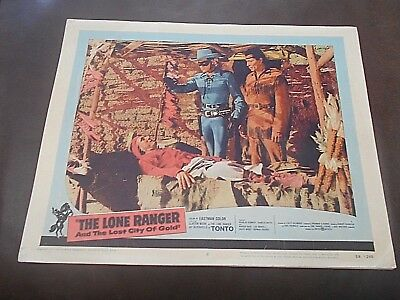 2 Cards    Clayton Moore As The Lone Ranger     Lost City Of Gold    2 Cards