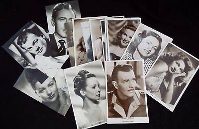 Set of Vintage Movie Stars Reproduction PHOTOGRAPH POSTCARDS & Signed - K01