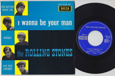 The ROLLING STONES * I Wanna Be Your Man * 1969 French EP* 60's BEAT *