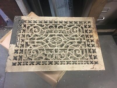 "gorgeous victorian cast heating vent or grate 12"" x 19"" gothic - Tuttle & bailey"