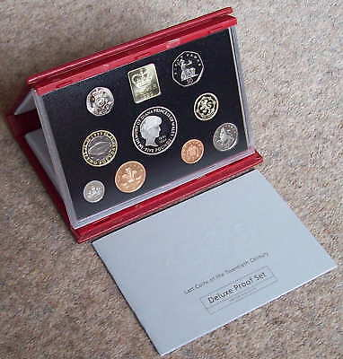 1999 deluxe GB proof Year Set, cased, CoA as issued by RM, includes scarce £1