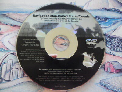 2007-2012 GM Navigation DVD/Disk 20945286 Ver. 9.3 Buick Cadillac Chevrolet GMC