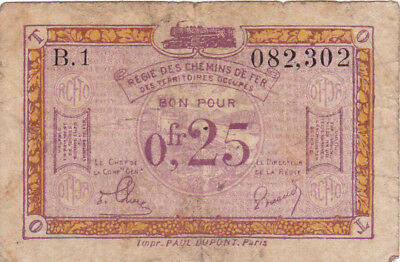 0,25 Francs Vg Banknote From  French Occupied Germany 1923!pick-R3