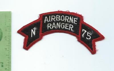 US Army N Company 75th Regiment Airborne Ranger  Tab Arc Scroll  patch