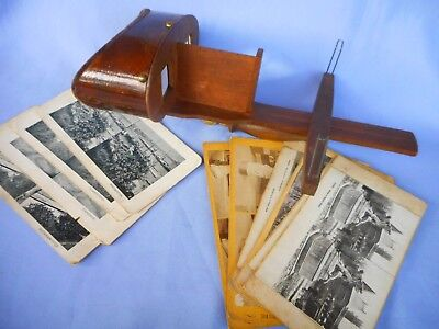 Vintage Sterescope &  Cards ~ Early Views Of Paris +English Towns ~ Interesting