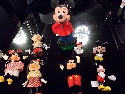 Bundle -Job Lot -8 Vintage Mickey Mouse Figures -Various Eras -Applause -Walt D