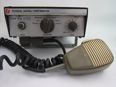 Federal Signal PA 200 Siren Control Amplifier WSP PA 0703 Police Fire Department