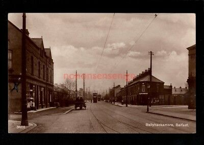 Belfast Ballyhackamore Electric Trams Real Photo Postcard 1928 - 66