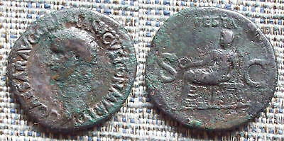 CALIGULA Roman as, Vesta reverse, Scarce
