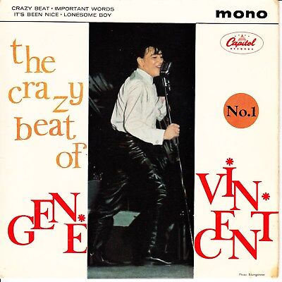 THE CRAZY BEAT OF GENE VINCENT  No.1 1963 UK EP  FACTORY SAMPLE