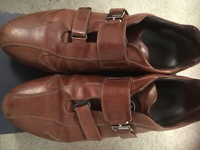 Men's Brown Leather Trainers From Russell And Bromley - Size 12