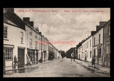 HILLSBOROUGH LISBURN ROAD Mrs. Johnston POSTCARD 1924  - 78