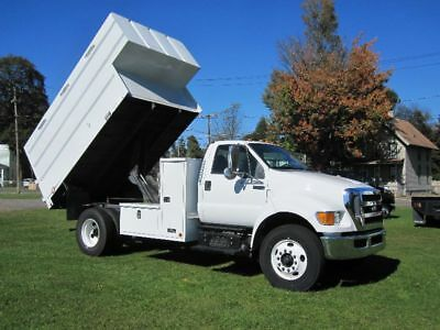 2012 Ford F-750 Reg Cab W/ Altec 14 Ft Chipper Dump Box Cummins Diesel Only 55K