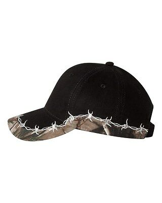 12 New Camo Barb Wire Hats EmbroideredFreeWUr Company Name Structured/Midprofile