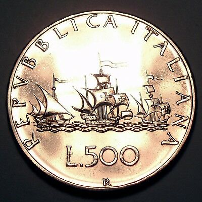 ITALY 500 LIRE 1970 Silver, Nice Details