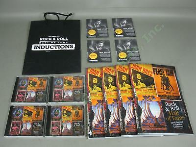 2017 Rock + Roll Hall Of Fame Lot 4 Programs 4 Sealed CDs Buttons + VIP Bag NR!