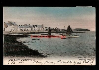 Portaferry The Shore Fishing Boats Postcard 1908  - 93