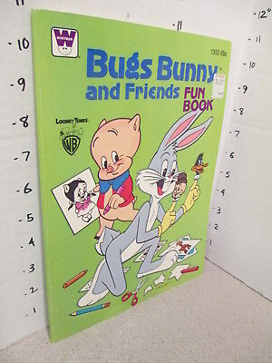 BUGS BUNNY & FRIENDS Porky Pig coloring FUN book unused 1979 comic Looney Tunes