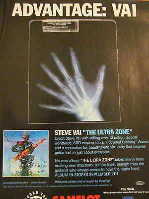 Steve Vai, The Ultra Zone, Full Page Promotional Ad