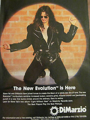 Steve Vai, DiMarzio, Full Page Promotional Ad