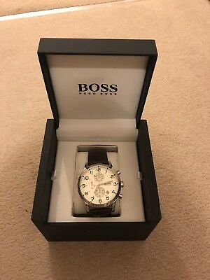 Hugo Boss Brown Leather Strap Watch. With Box. Excellent Condition