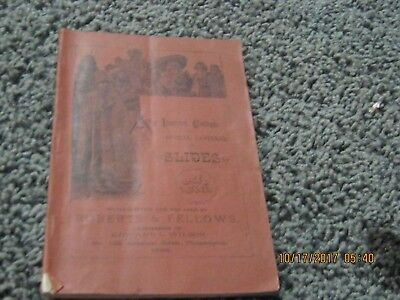 1886 Roberts & Fellows Catalog Of Optical Lanterns And Slides