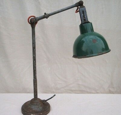 Vintage Dugdills Industrial Engineers Machinists Lamp Heavy Round Base