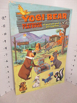 YOGI BEAR 1960 punch-out paper doll coloring book unused,Hanna Barbera cartoon