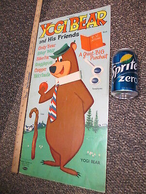 YOGI BEAR GIANT 1961 punch-out paper doll cartoon comic coloring book unused