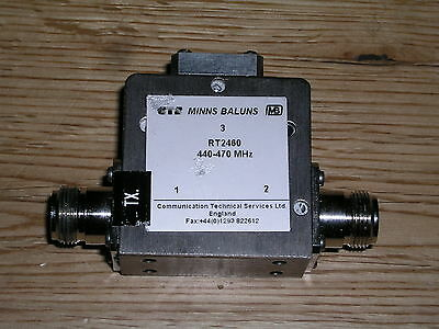 440-470 MHz RT2460 balun Minns Baluns by Communications Technical Services Ltd