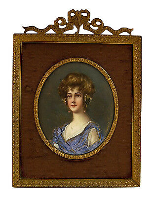 Wonderful French Enamel Painting On Copper Painting  Signed