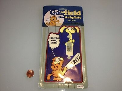 1980's Vintage GARFIELD Light Switch Cover SWITCHPLATE new RARE unopened Odie