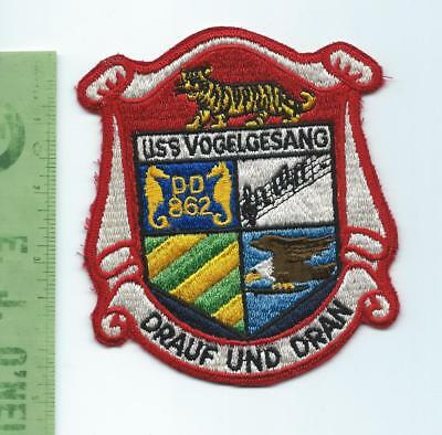 US Navy USN USS Vogelgesang  DD 862 patch