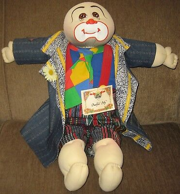 1989 Bashful Billy Soft Sculpture Xavier Roberts Cabbage Patch Hobo Doll Ltd Ed