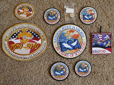 Scout Bsa 2010 National Jamboree 9 Piece Collection Patch Pin Jambo 100Th Anniv