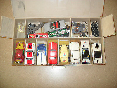 Lot Of Vintage Slot Cars AFX Aurora Tyco Mustang Charger Cougar Impala Lotus