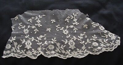 Antique Silk Tulle Chantilly Lace Fragment
