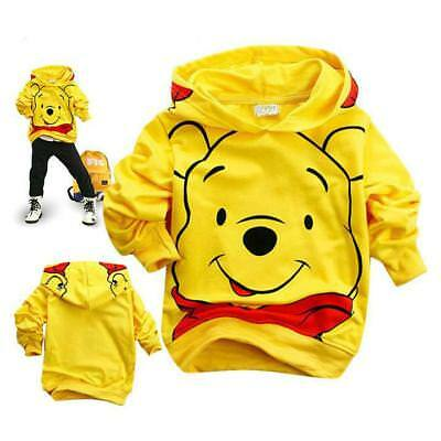1pc baby toddler boys clothes hoodie pullover outerwear cartoon BEAR 6-7 Y