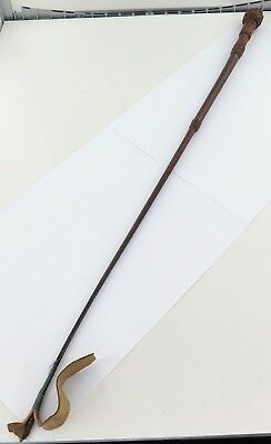 A Good Antique / Vintage / Quality Plaited Riding Crop.