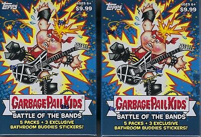 (2) 2017 Topps Garbage Pail Kids #2 Battle Of The Bands Cards EA Blaster Box LOT