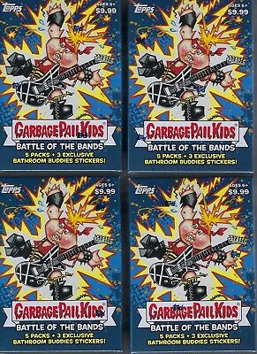 (4) 2017 Topps Garbage Pail Kids #2 Battle Of The Bands Cards EA Blaster Box LOT